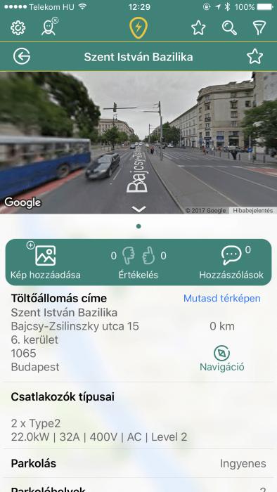 TöltőPont iOS alkalmazás