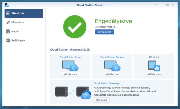 Synology Cloud Station készen áll