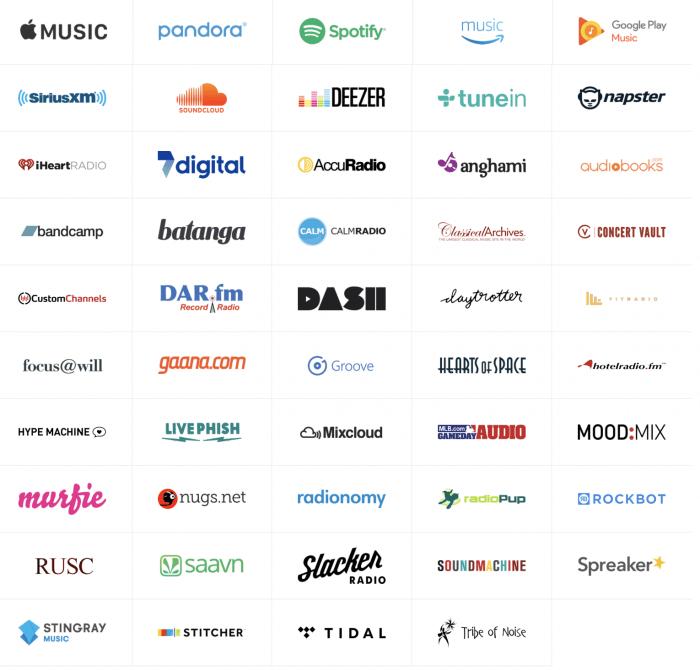 Sonos szolgáltatások