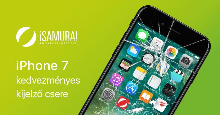 iSamurai – iPhone 7 kedvezményes kijelző csere borítókép