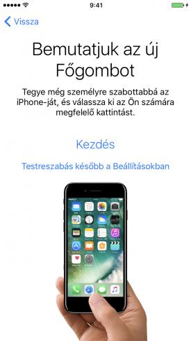 Beállítási Asszisztens – Az iPhone 7 új főgombjának beállítása