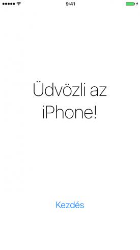 Beállítási Asszisztens – Üdvözli az iPhone képernyő