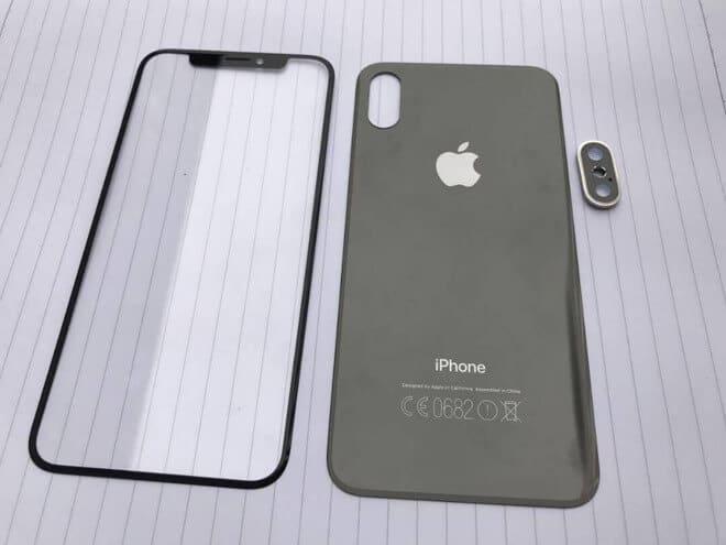 iPhone 8 előlapi üveg és hátlap
