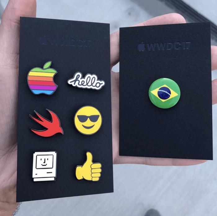 WWDC17 kitűzők