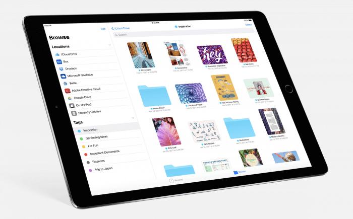 iOS 11 Files alkalmazás