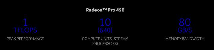 2016 Touch Bar Retina MacBook Pro Radeon Pro 450