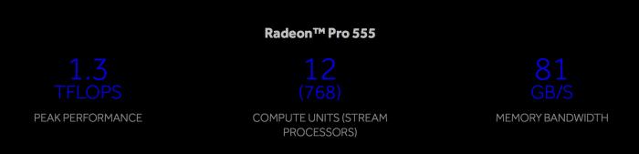 2017 Touch Bar Retina MacBook Pro Radeon Pro 555