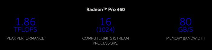 Radeon™ Pro 460