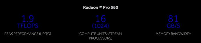 Radeon™ Pro 560