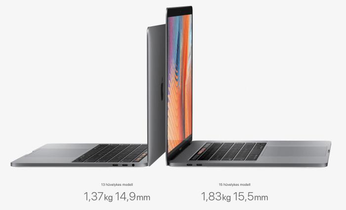 Apple Touch Bar Retina MacBook Pro 13, 15 teszt
