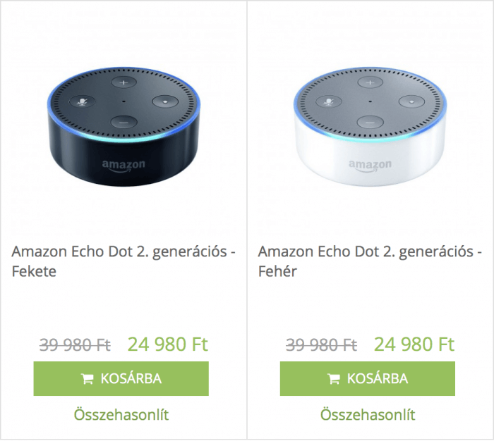 Amazon Echo Dot akció