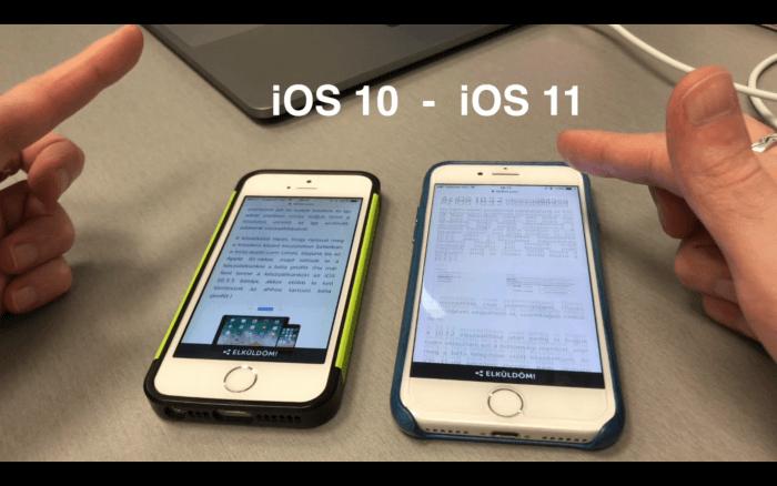 Kényelmesebb lesz az iOS 11-ben a görgetés