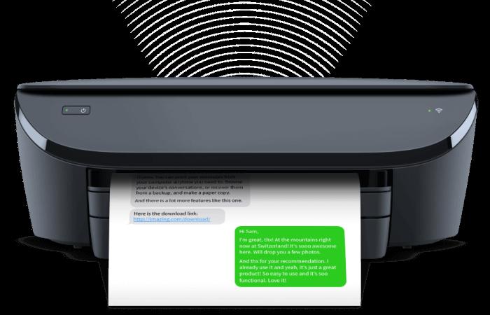 iMessage-ek és SMS-ek nyomtatása