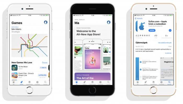 iOS 11 megújúl az App Store