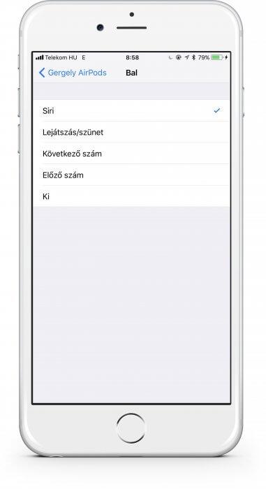 iOS 11 AirPods funkciók