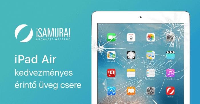 iSamurai – iPad Air kedvezményes érintő üveg csere borítókép