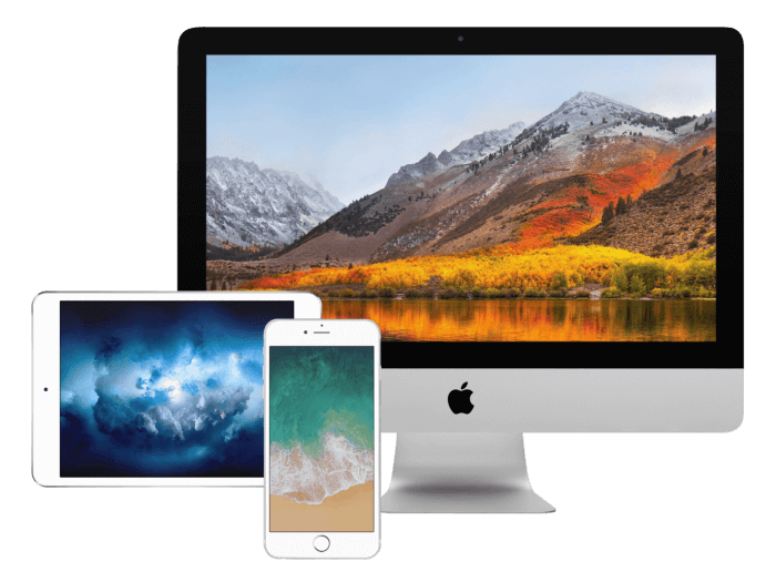 iOS 11, macOS Sierra, iMac Pro hátterek