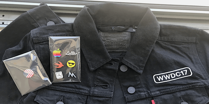 WWDC17 LEVIS kabát és kitűzők
