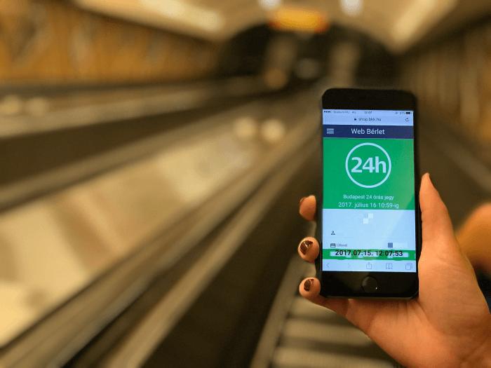 Budapesti tömegközlekedési jegy iPhone-ra
