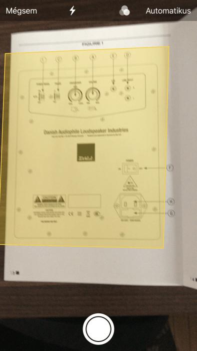 iOS 11 dokumentum szkennelése
