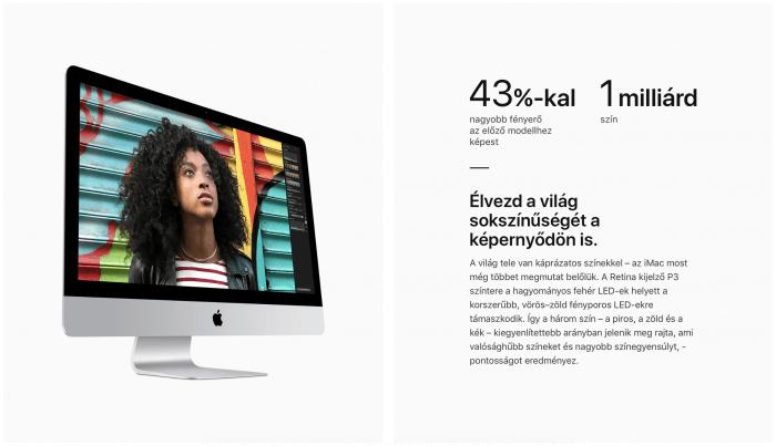 iMac 5K P3 kijelző