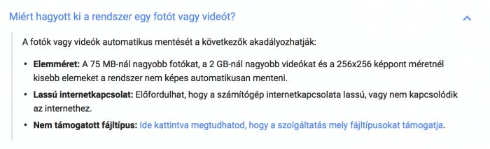 google fotók feltételei