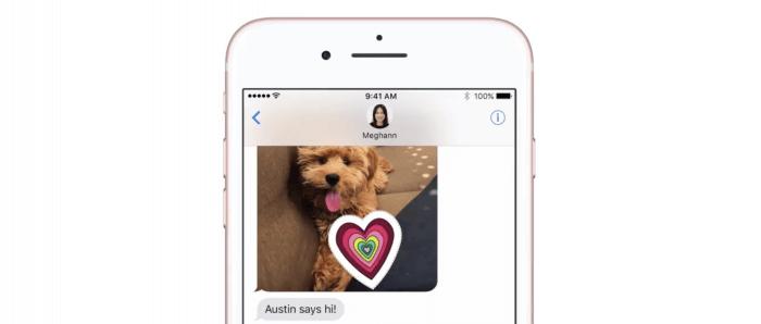Matricák az iMessage-ben lévő fotókra – iOS 10