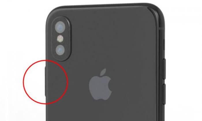 iPhone 8: bekapcsoló gombba épített ujjlenyomat-olvasó