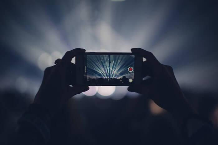iPhone koncertfelvétel