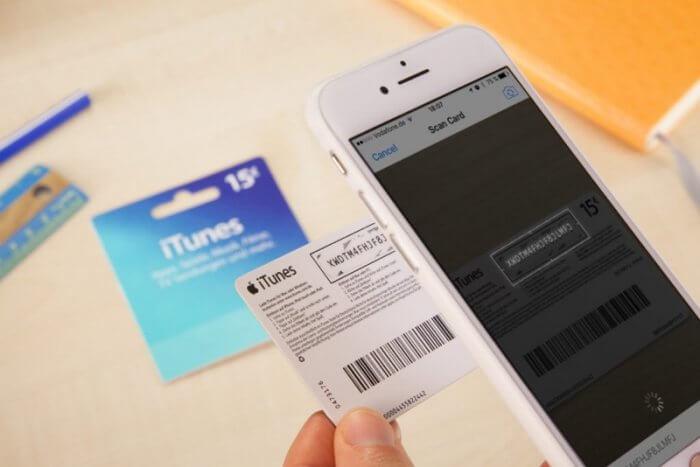 iTunes ajándékkártya