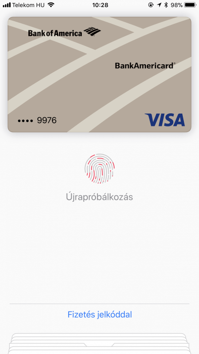 Apple Pay jelkóddal