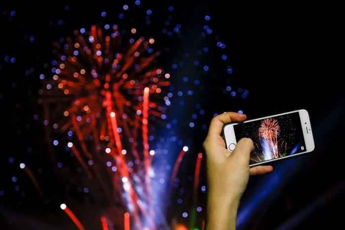 Tűzijáték fotózás iPhone-nal