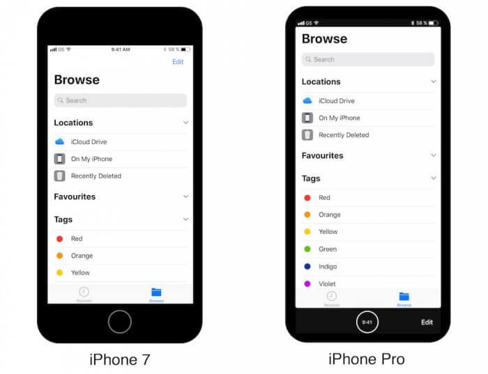 iPhone 8 iOS 11 navigáció