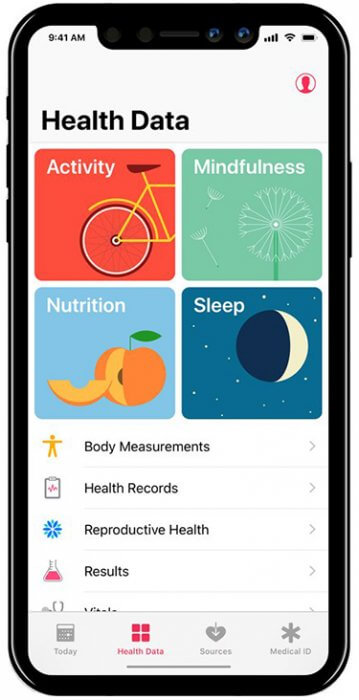 iPhone 8 iOS 11 - Health app