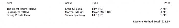 iTunes HDR és 4K opciók
