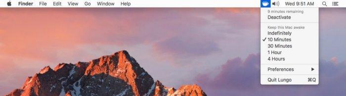 Lungo macOS-re, amivel az alvó módot állíthatjuk át ideiglenesen