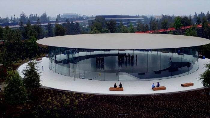 Steve Jobs Theater drón videón