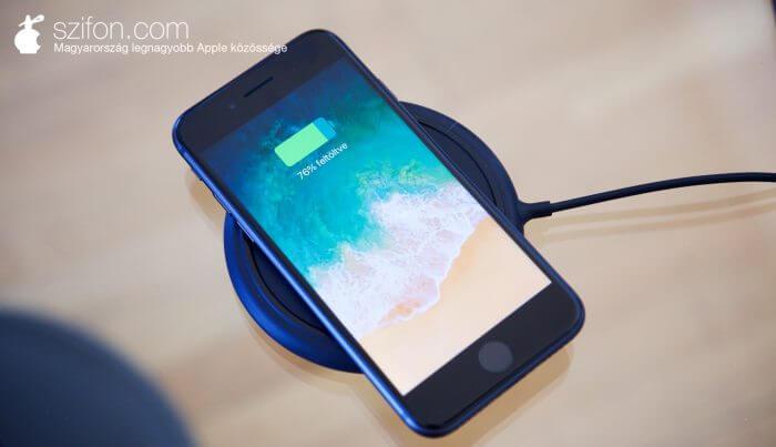 iPhone 8 vezeték nélküli töltés
