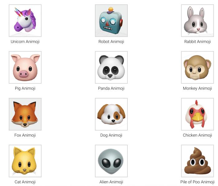 3D Animojik az iOS 11-ben