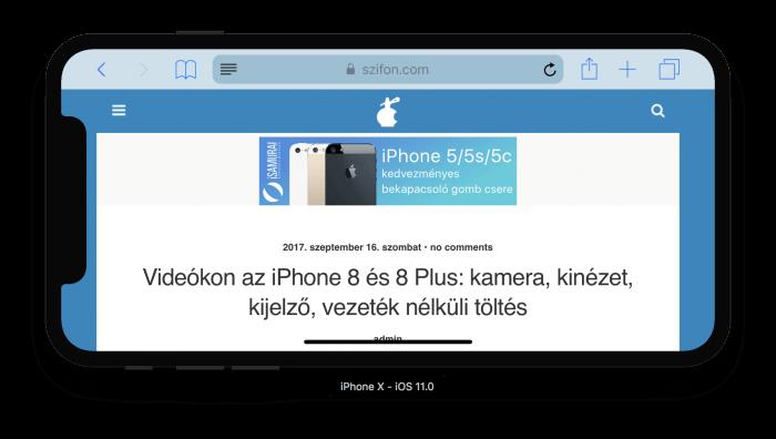 Szifon.com iPhone X