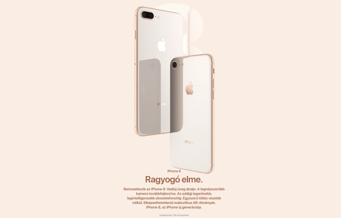 Apple iPhone 8, 8 Plus árak, megjelenés, technikai adatok