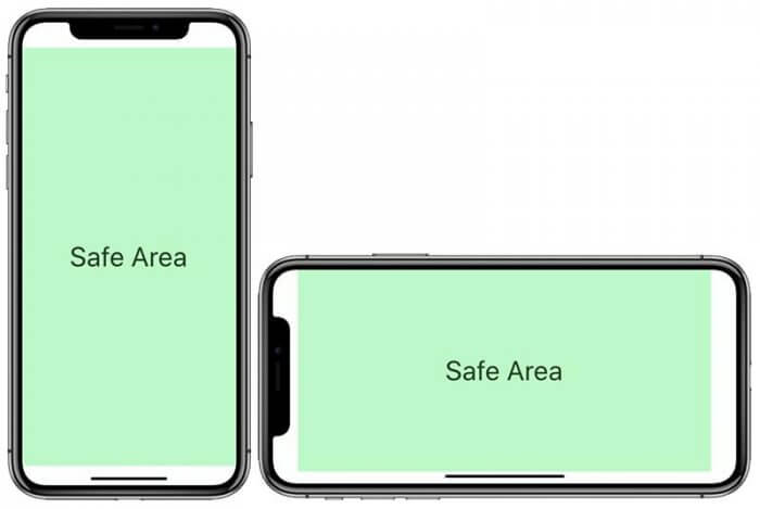 Safe Areas iPhone X