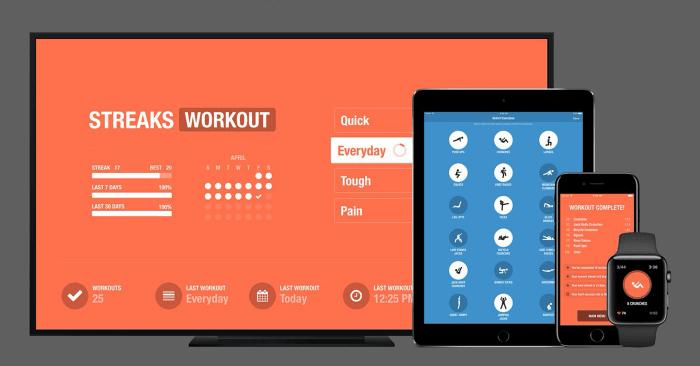Streaks Workout képernyőfotó