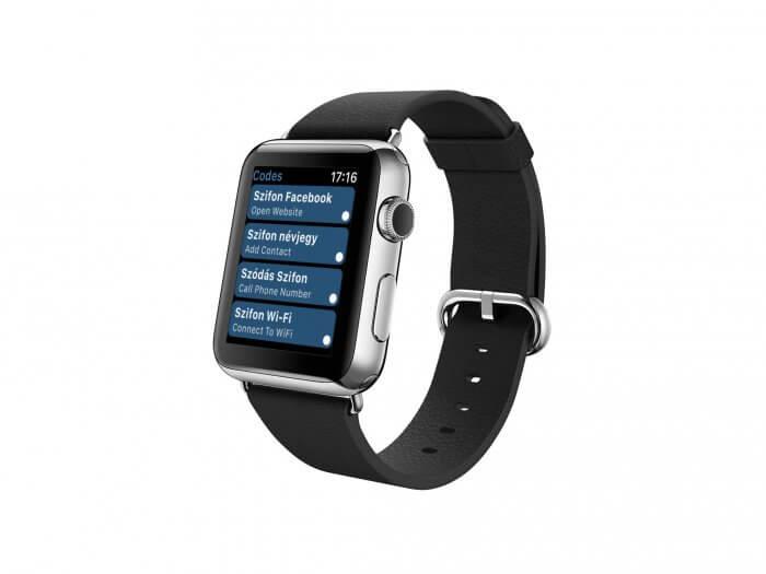 Apple Watch QR kód