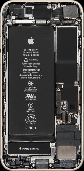 iPhone 8 belső felépítése