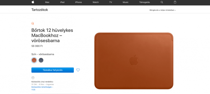 Bőrtok 12 colos MacBookhoz