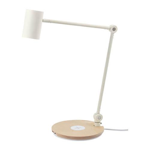 IKEA RIGGAD LED íróasztallámpa vezeték nélküli töltővel