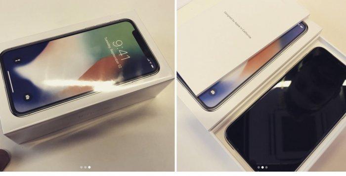 iPhone X csomagolása