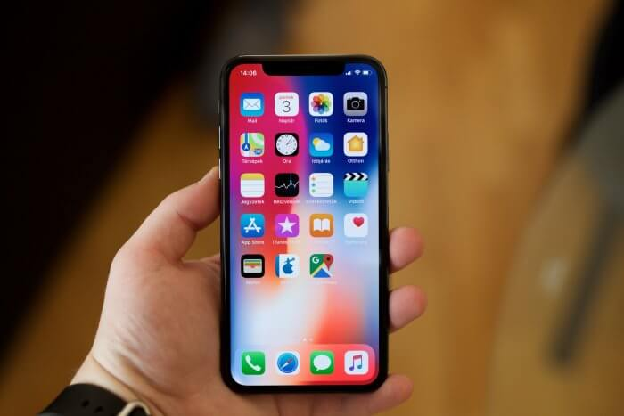 iPhone X OLED kijelző beégés