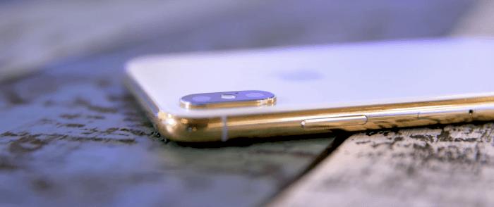 iPhone X arany változat